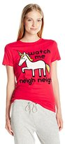 Goodie Two Sleeves Juniors Unicorn Watch Me Neigh Neigh Graphic Tee
