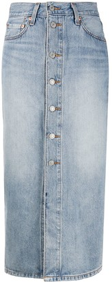 Levi's Front Button Denim Skirt