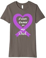 Men's Testicular Cancer Orchid Purple Awareness Ribbon Dad Tee Small
