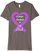 Women's Testicular Cancer Orchid Purple Awareness Ribbon Dad Tee XL