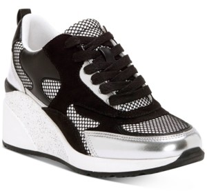 INC International Concepts Inc Hadya Lace-Up Wedge Sneakers, Created for Macy's Women's Shoes