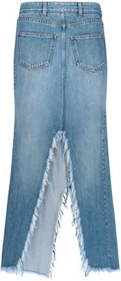 Givenchy Flared Denim Skirt