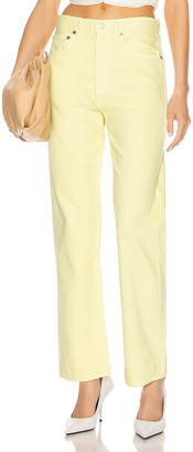 A Gold E 90's Mid Rise Loose Fit in Limoncello | FWRD