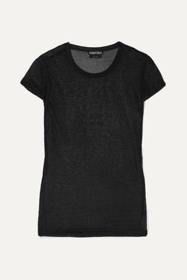Tom Ford Metallic Knitted Top - Black
