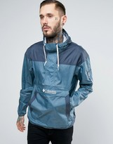 Columbia Challenger Overhead Jacket Lightweight In Blue Print