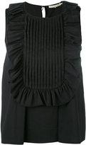 L'Autre Chose ruffled trim top - women - Cotton/Spandex/Elastane/Polyimide - 42