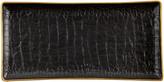 L'OBJET Crocodile Rectangular Tray - Gold - 15x30cm