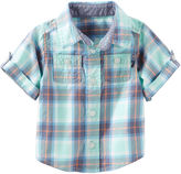 Osh Kosh Oshkosh Short Sleeve Button-Front Shirt Boys