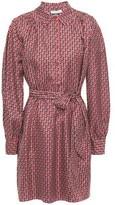 Joie Razi Printed Silk-twill Dress