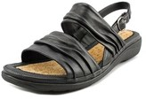 Hush Puppies Minetta Keaton Women Ww Open-toe Leather Black Slingback Sandal.