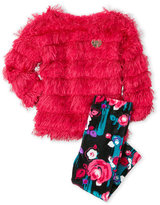 Juicy Couture Infant Girls) Two-Piece Eyelash Pullover & Velour Leggings Set