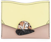 Proenza Schouler New Small Colorblock Clutch Bag, Pale Citrus/Sand
