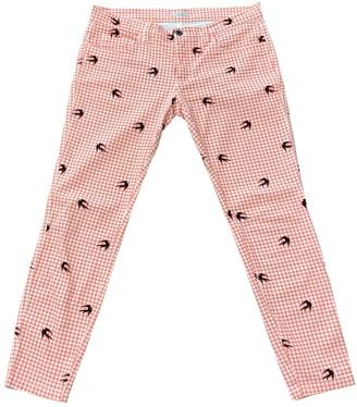 Miu Miu Pink Cotton Trousers