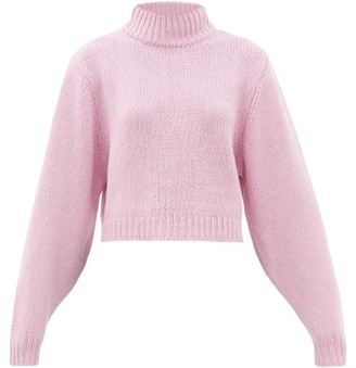 The Row Tabeth Cropped Cashmere Sweater - Pink
