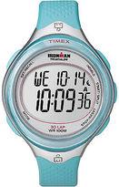 Timex Digital Women's Watch - Ironman 30-Lap Mid Size Clear View | Blue Case