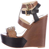 Etro Studded Leather Wedges