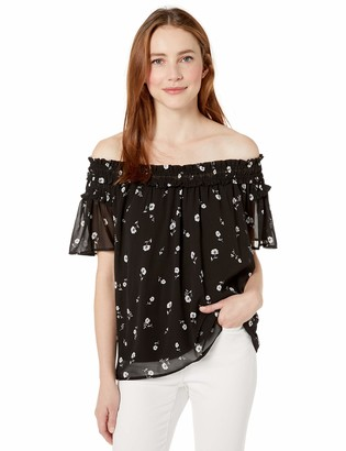 Kensie Women's Scattered Blossoms Top