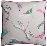 Matthew Williamson Pink & Grey Dragonfly Dance Cushion