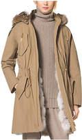 Michael Kors Crinkled Cotton Fur-Lined Parka