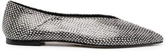 AEYDĒ Dot Print Ballerina Shoes