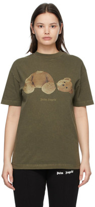 Palm Angels Khaki Bear T-Shirt