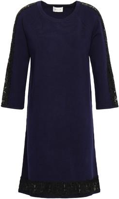Milly Lace-trimmed Stretch-knit Mini Dress