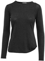 Minnie Rose Long Sleeve Pointelle Back Crew