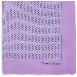 Ralph Lauren Geometric-Print Silk Pocket Square