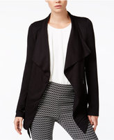 Bar III Zipper-Detail Waterfall Cardigan, Only at Macy's