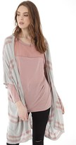 Jacqueline De Yong Womens Gorgeous Stripe Cardigan Light Grey Melange