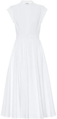 Alexander McQueen Cotton-poplin midi dress
