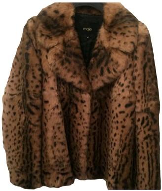 Maje Fall Winter 2018 Camel Fur Coats