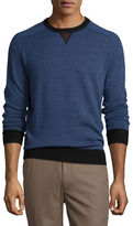 Peter Millar Sueded-Trim Crewneck Sweater