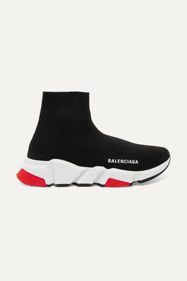 Balenciaga Speed Stretch-knit High-top Sneakers - Black
