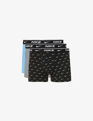 Nike Pack of three Everyday stretch-cotton jersey trunks