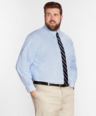 Brooks Brothers Big & Tall Dress Shirt, Non-Iron Houndstooth