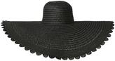 Bianca Wide Brim Scalloped Floppy Hat