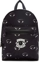 Kenzo Black Nylon Eye Backpack