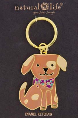 Natural Life Enamel Keychain Dog