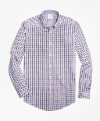 Brooks Brothers Non-Iron Madison Fit Three-Color Gingham Sport Shirt
