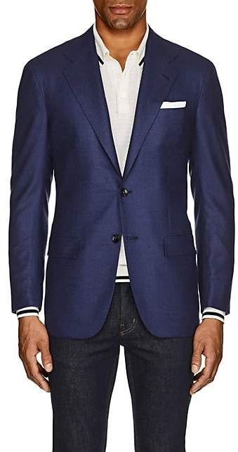 Kiton Men's KB Neat Cashmere Two-Button Sportcoat - Blue
