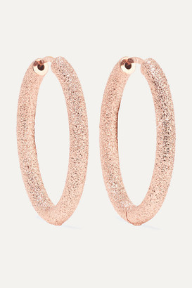 Carolina Bucci Florentine 18-karat Rose Gold Hoop Earrings - one size