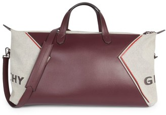 Givenchy Bond Canvas on Leather Duffle Bag