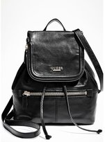 GUESS Leather Backpack with Zippered Flap