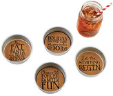 Mud Pie Holiday Mason Jar Coasters - Set of 4