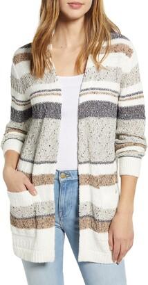 Caslon Stripe Texture Cardigan