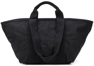 Alexander Wang Logo Embroidered Zipped Tote Bag
