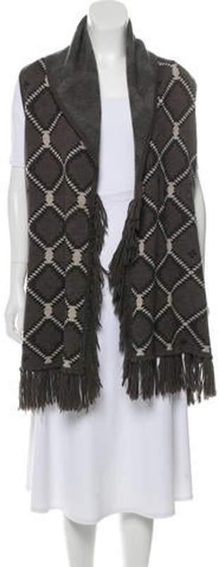 Alice + Olivia Wool Fringe-Trimmed Vest Wool Fringe-Trimmed Vest
