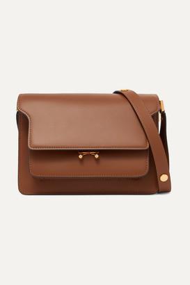 Marni Trunk Leather Shoulder Bag - Tan