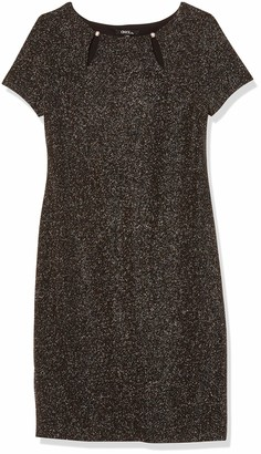Onyx Nite Women's Short Glitter Knit with Cut-Out Neck